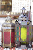 Ramadan lanterns in Doha market Stock Images