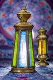 Ramadan Lanterns over Ramadan Fabric Royalty Free Stock Photography