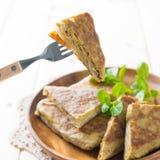 Ramadan-Lebensmittel mutabbaq Lizenzfreie Stockfotos