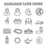 Ramadan line icons Royalty Free Stock Photos