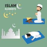 Ramadan month for Muslims and muslim Men Doing Religious Rituals Stock Image