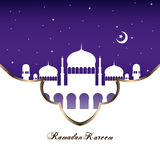 Ramadan mosque flat design background vector illustration