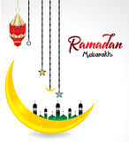 Ramadan Mubarak Festival Background. Vector illustration Stock Photos