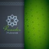 Ramadan Mubarak greeting card or background with arabic pattern Stock Images