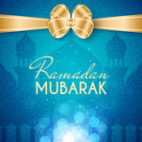 Ramadan Mubarak Islamic Greeting Background Royalty Free Stock Image