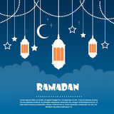 Ramadan Mubarak Night Lantern Photographie stock