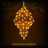 Ramadan Mubarak. Vector illustration of shiny lamp for Ramadan Mubarak royalty free illustration