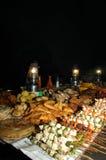 Ramadan Nacht Fest an der Steinstadt Zanzibar stockfotos