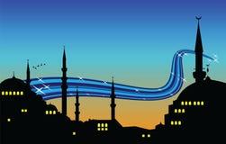 Ramadan night. Vector illustration of ramadan night royalty free illustration