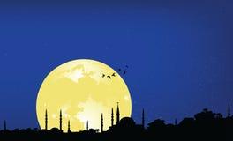 Ramadan night. Vector illustration of ramadan night