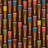 Ramadan Obor Puluh Pelita vertical seamless pattern Stock Photography