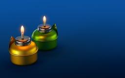 Ramadan Oil Lamp. Muslim tradition oil lamp glow during celebration vector illustration