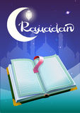 Ramadan and open book Koran. Illustration in vector format Royalty Free Stock Photography
