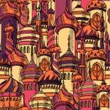 Ramadan powitania bezszwowy wzór z meczetem Multicolor bezszwowy tło kareem Ramadan Projekta kreatywnie pojęcie Obraz Stock