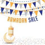 Ramadan sale background ad template Stock Photography
