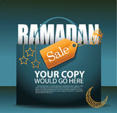 Ramadan sale background ad template Royalty Free Stock Photo