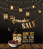 Ramadan sale background with copy space. EPS 10 vector Stock Image