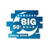 Ramadan sale banner,discount and best offer tag, label or sticker set on occasion of Ramadan Kareem and Eid. Ramadan sale banner,discount and best offer tag vector illustration