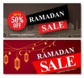 Ramadan sale vector banner designs set for shopping discount Stock Photos
