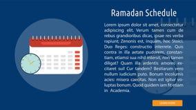 Ramadan Schedule Banner Concept illustration de vecteur
