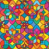 Ramadan star color symmetry seamless pattern vector illustration