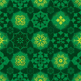 Ramadan star many symmetry birght circle seamless pattern Royalty Free Stock Photos