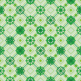 Ramadan stra diamond shape seamless pattern. This illustration is design fresh and modern green color Ramadan star stick on diamond shape in symmetry background Stock Images