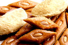 Ramadan sweet - paklava and badam Stock Images