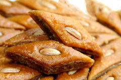 Ramadan sweet - paklava and badam Royalty Free Stock Photos