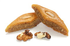 Ramadan sweet - paklava with nuts Stock Photography