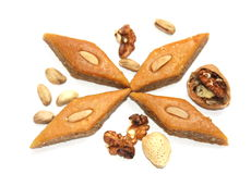 Ramadan sweet - paklava with nuts Royalty Free Stock Photo