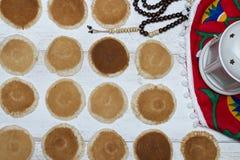 Ramadan Sweets - Qatayef. Qatayef - Traditional middle eastern sweets , usually eaten in Muslims holy month : Ramadan stock photos