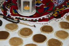Ramadan Sweets - Qatayef. Qatayef - Traditional middle eastern sweets , usually eaten in Muslims holy month : Ramadan stock images