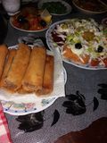 Ramadan Table & x22; bourek& x22; fotografia stock libera da diritti
