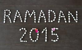 Ramadan 2015 tekst Zdjęcie Royalty Free