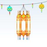 Ramadan themed decorative lanterns Royalty Free Stock Images