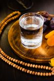 Ramadan water for iftar Stock Image