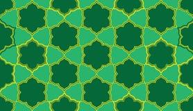 Ramadan zes ster zes het naadloze patroon van de vormsymmetrie vector illustratie