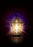 Ramadankareembakgrund med den skinande lyktan stock illustrationer