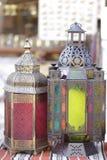 Ramadanlyktor i den Doha marknaden Arkivbilder