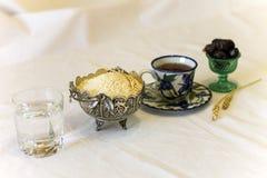 Ramadanonderbreking het vasten menu Royalty-vrije Stock Fotografie