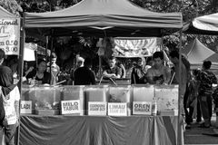 Ramadhan Bazaar 5th July, 2015, Kuala Lumpur, Malaysia. Beverages stall, selling different kind of drinks Royalty Free Stock Image