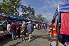 Ramadhan Bazaar 5th July, 2015, Kuala Lumpur, Malaysia. Local people walk in Ramadhan Bazaar buying foods and beverages ready for open fasting Stock Images