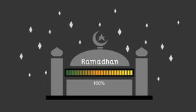 Ramadhan 100%. This is an illustration about ramadhan is coming loading up to 100 royalty free illustration