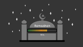Ramadhan 76%. This is an illustration about ramadhan is coming loading up to 76 royalty free illustration