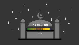 Ramadhan 92%. This is an illustration about ramadhan is coming loading up to 92 Stock Images