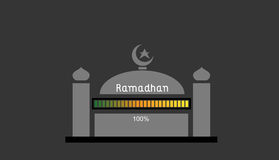 Ramadhan 100. This is an illustration about ramadhan is coming loading up to 100 stock illustration