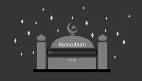Ramadhan 8%. This is an illustration about ramadhan is coming, still loading up to 8 stock illustration