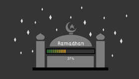 Ramadhan 37%. This is an illustration about ramadhan that still loading 37 stock illustration