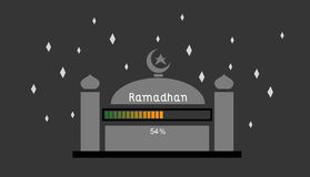 Ramadhan 54%. This is an illustration about ramadhan that still loading 54 stock illustration